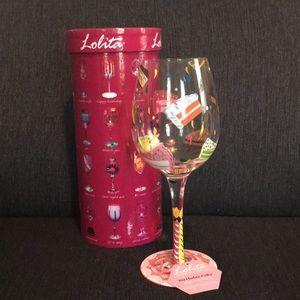 "Lolita ""Birthday Cake"" wine glass"